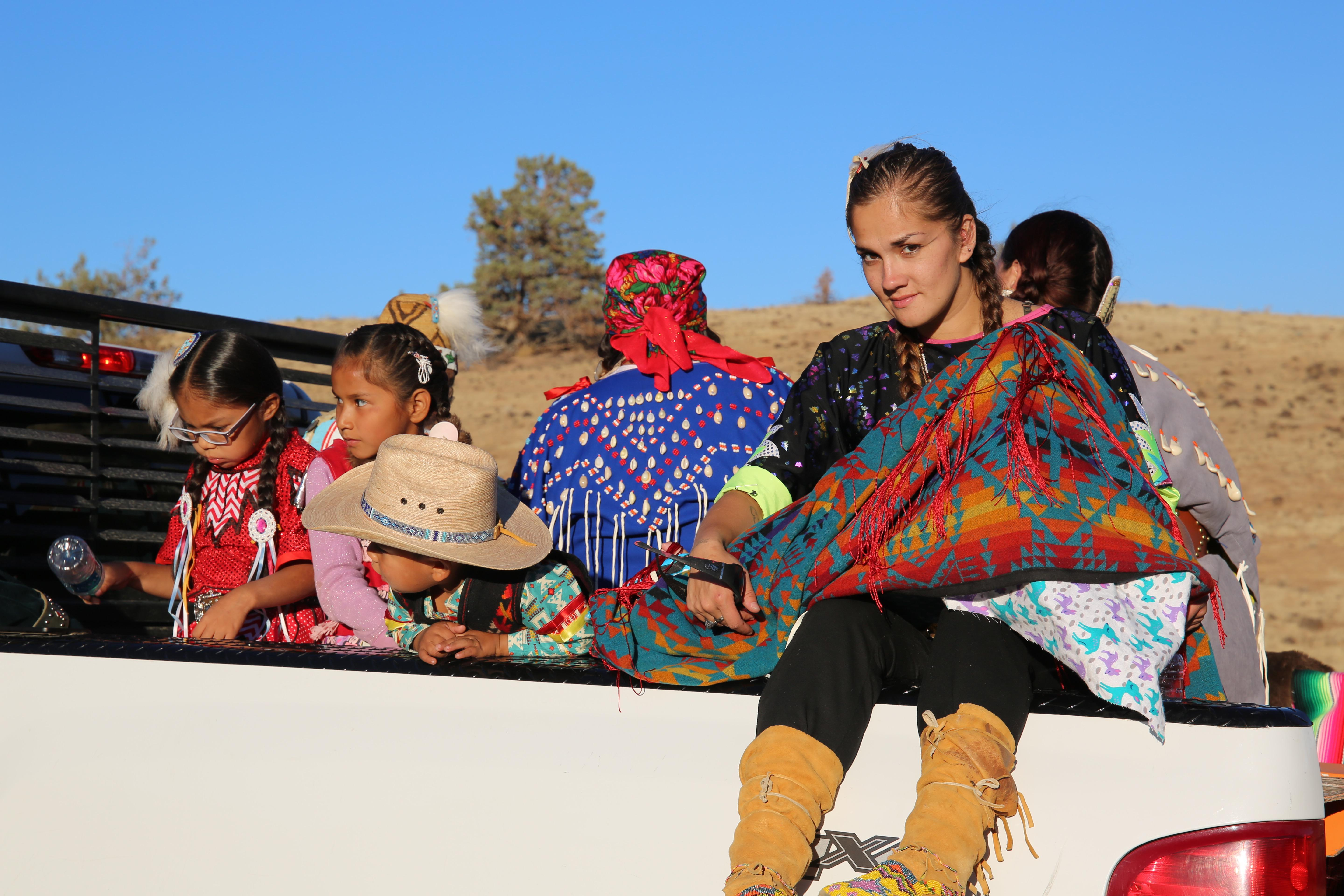 Some tribal members took part in a farewell parade at Kah-Nee-Ta.