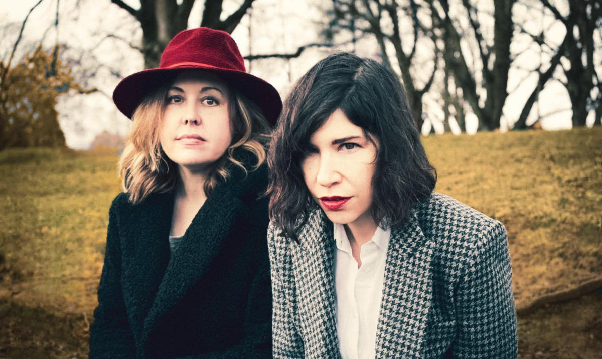 Corin Tucker and Carrie Brownstein of Sleater-Kinney