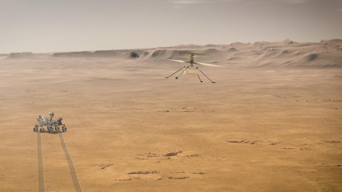 Znalezione obrazy dla zapytania: ingenuity drone mars