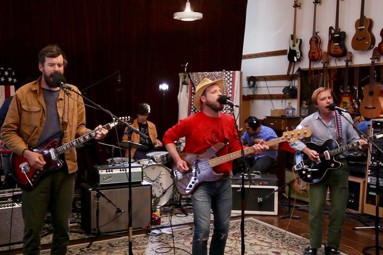 Dr. Dog records an opbmusic session at Revolver Studios, 6-8-2018