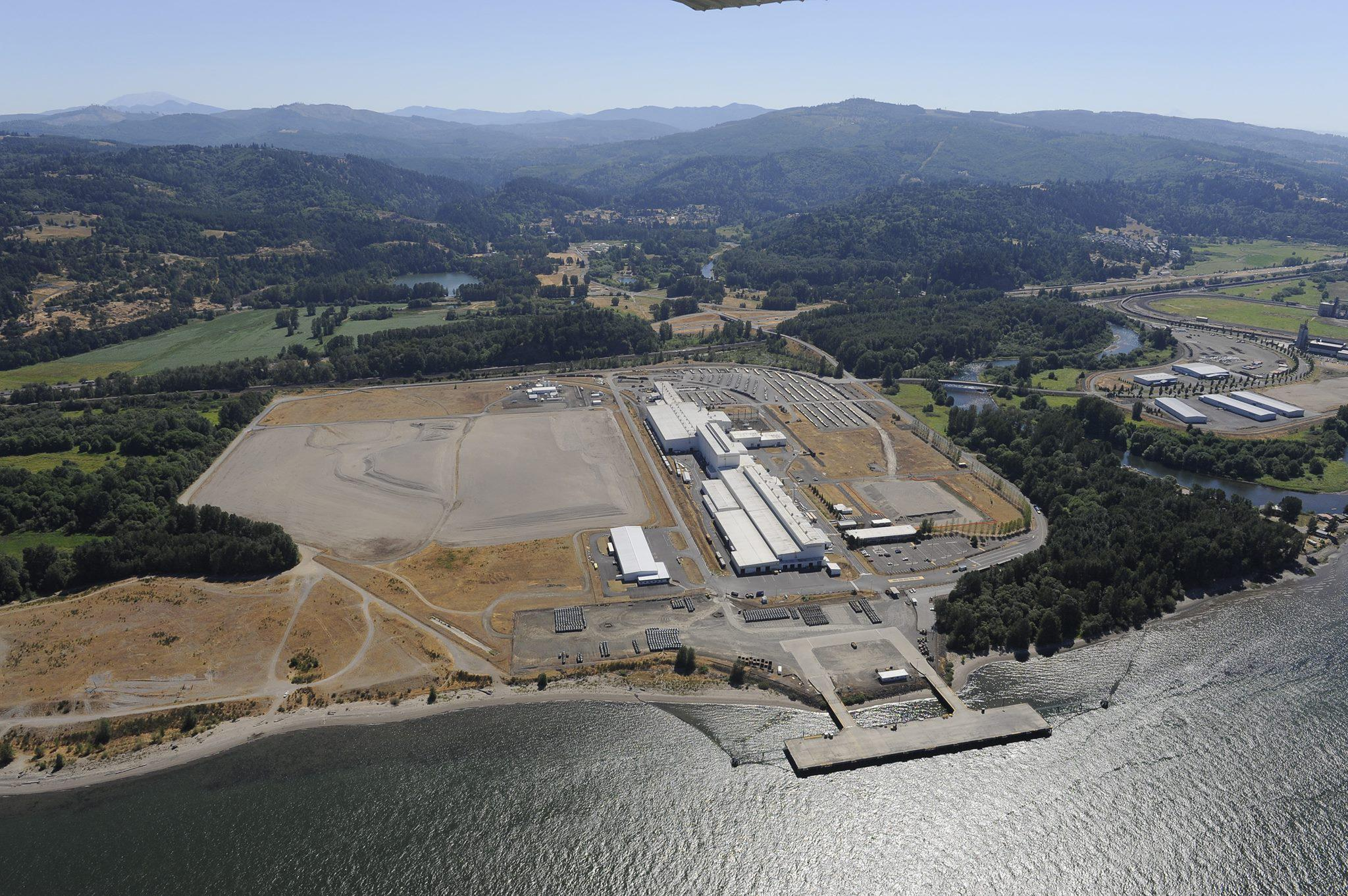The site at the Port of Kalama where NW Innovation Works is proposing a 90-acre methanol plant.