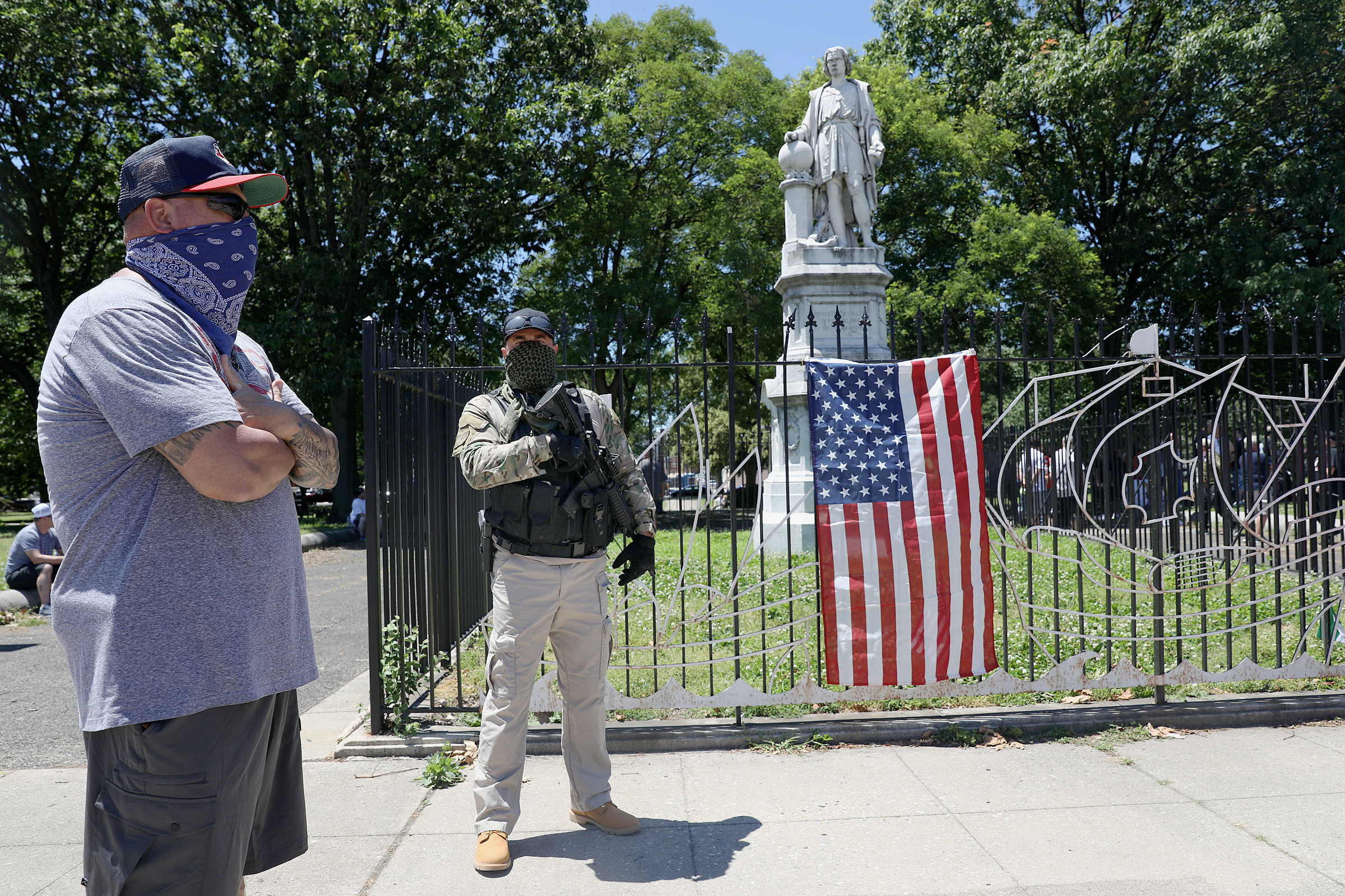 South Philly residents surround Columbus statue as demonstrations ...