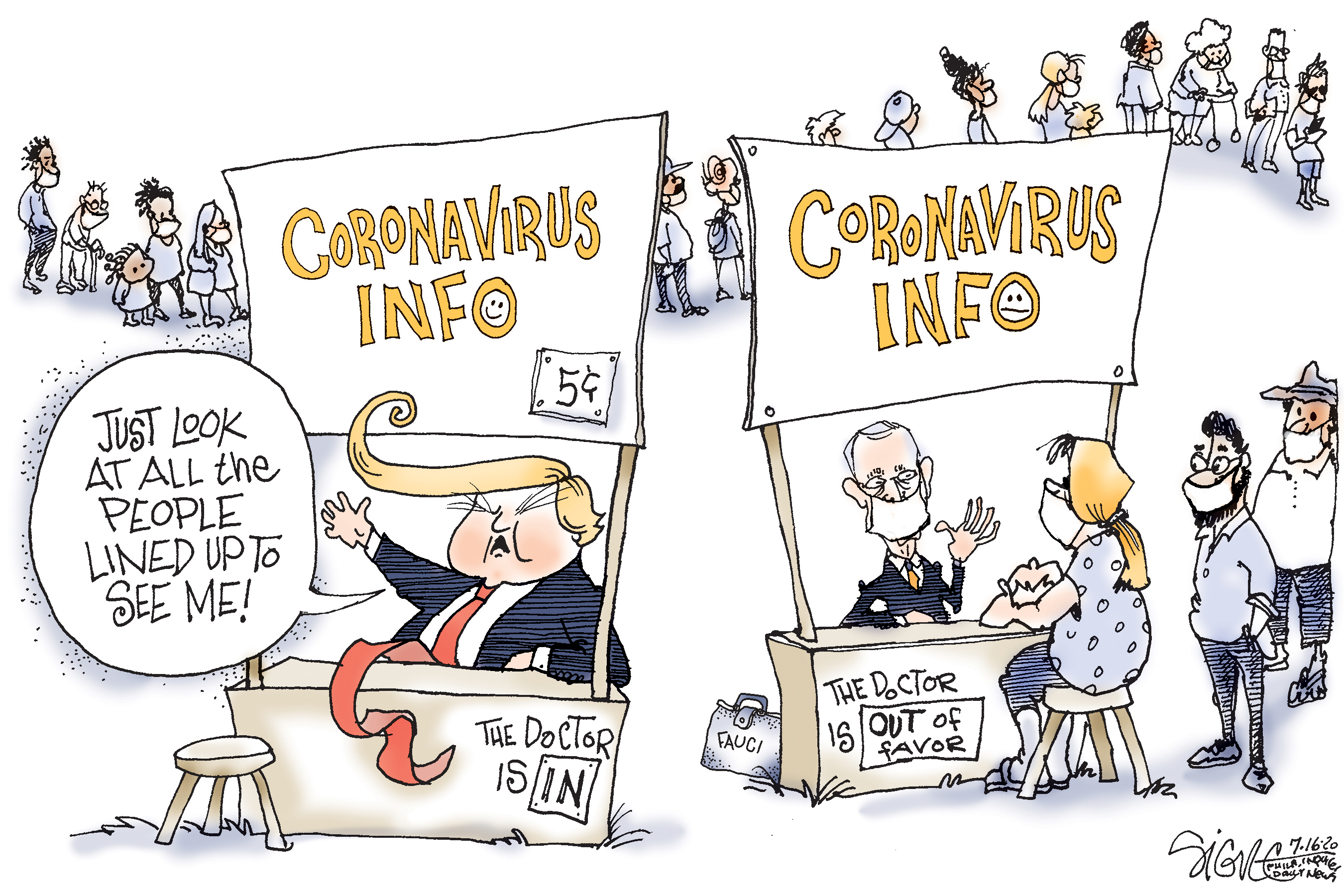 Political Cartoon The Coronavirus Doctors Are In