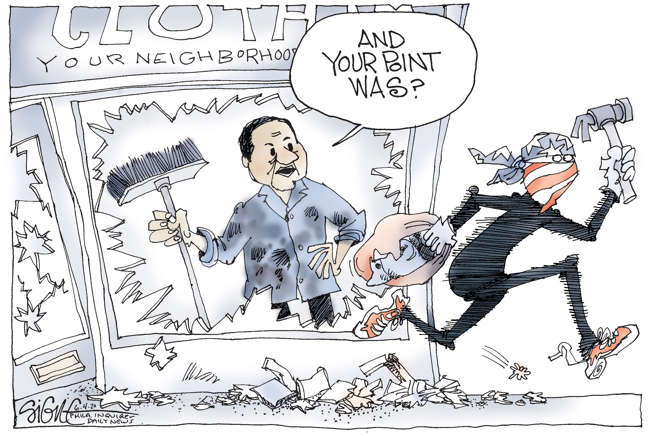 Political Cartoon What S The Message