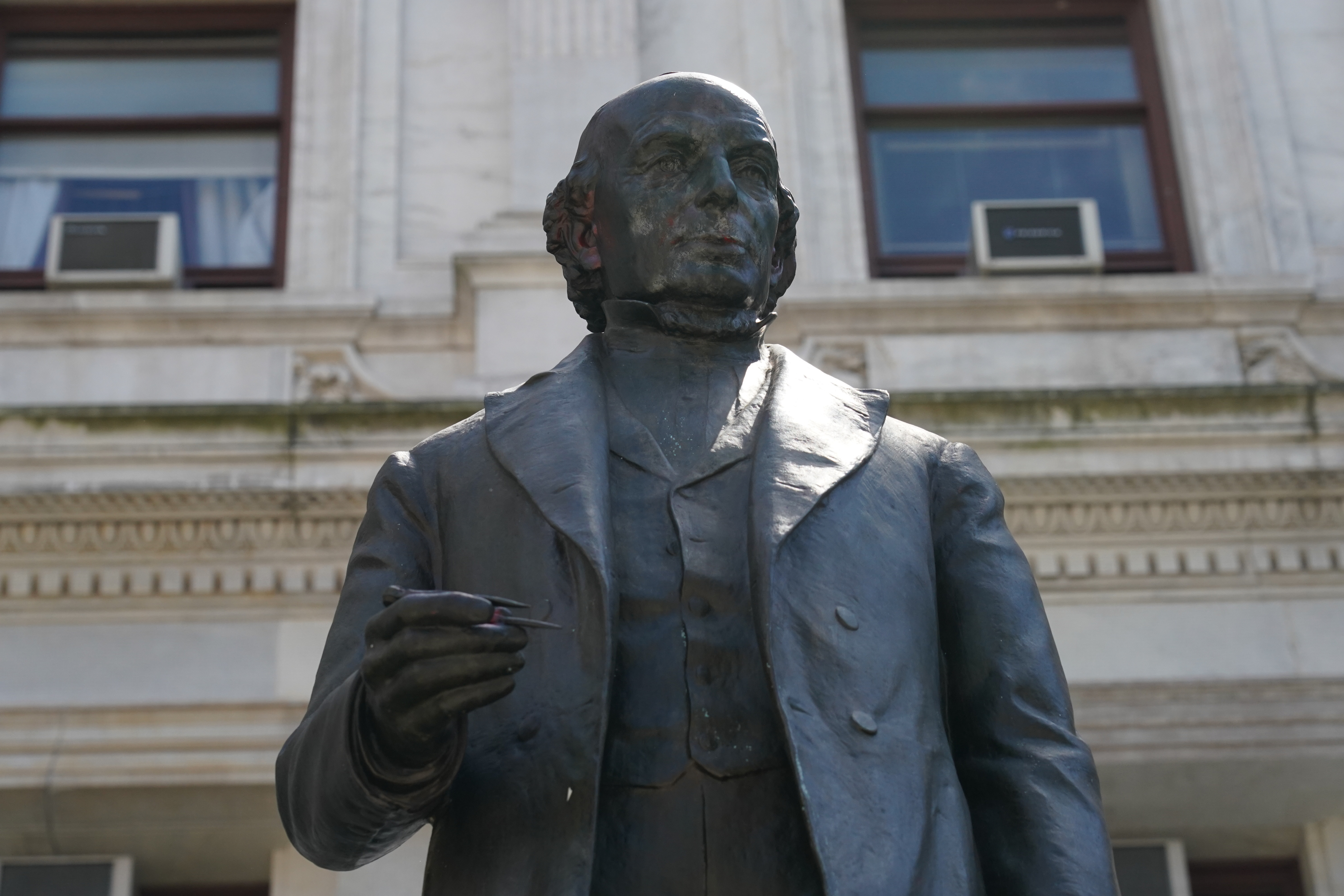 Statue of Philadelphia Abolitionist Matthias Baldwin