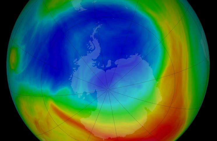 El agujero de ozono en la Antártida alcanzó su nivel máximo y es el más grande en 15 años