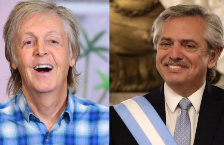 Paul McCartney invitó a Alberto Fernández a sumarse al ''lunes sin carne''