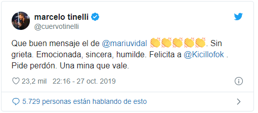 """""""Se muestra más humano"""", los tweets de Marcelo Tinelli tras los resultados de las elecciones"""