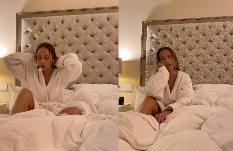 Ester Expósito se hizo una serie de fotos en la cama.