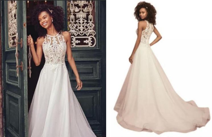 Este era el vestido que la novia esperaba, pero lo que recibió fue una sorpresa