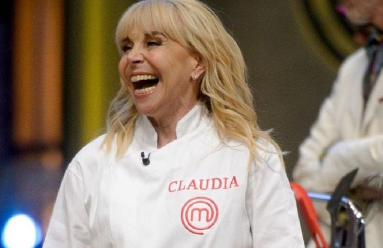 Claudia Villafañe en la gran final de MasterChef Celebrity .