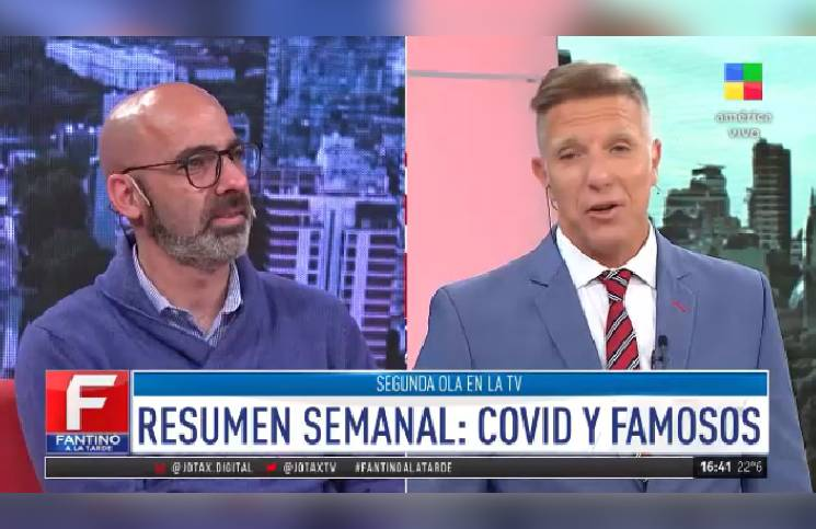 """""""Algo le pasó en mi organismo, no sé qué"""", el dramático testimonio de Fantino a 3 meses de recuperarse del Covid"""