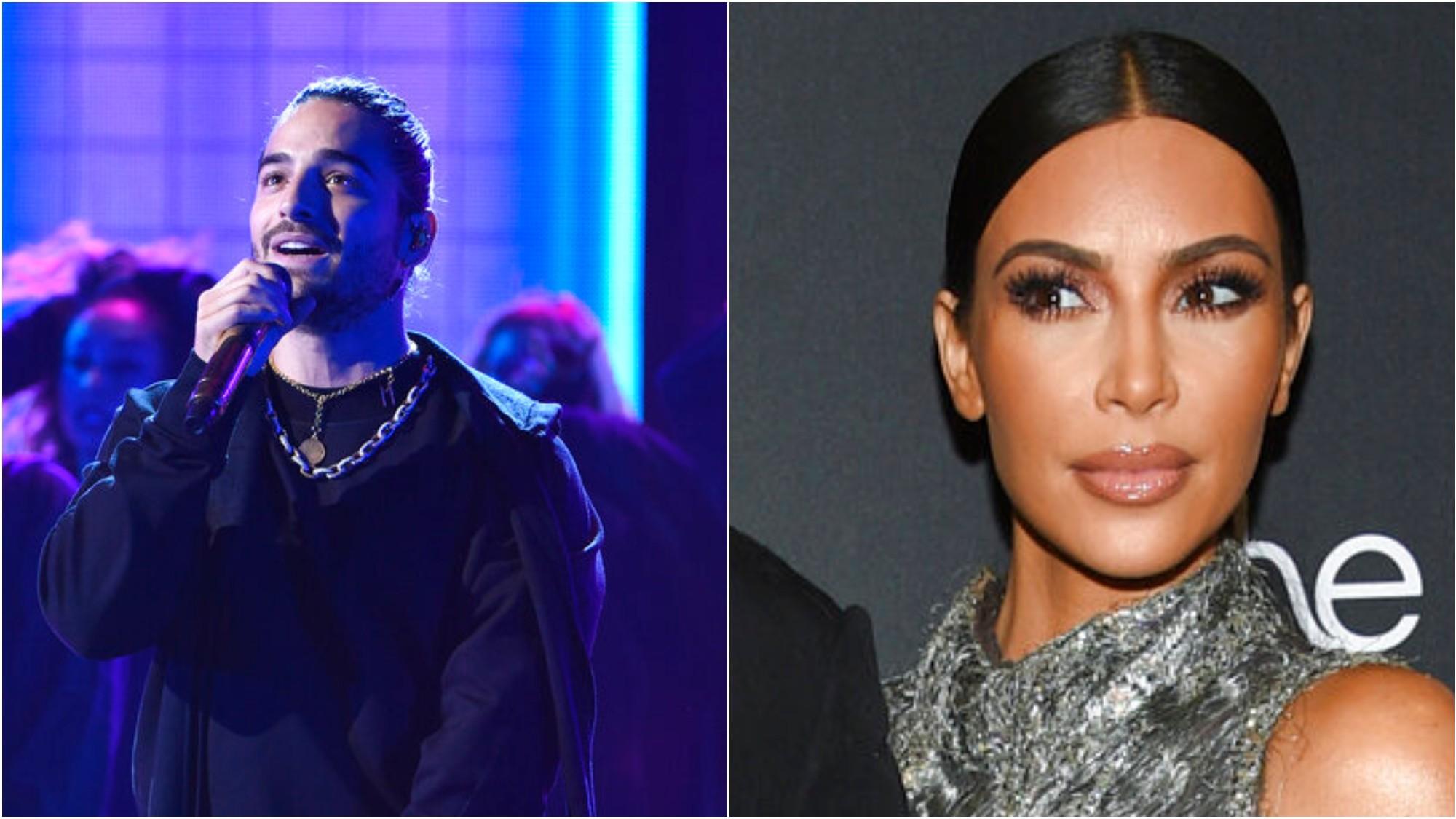 Maluma respondió ante los rumores sobre una posible relación con Kim Kardashian