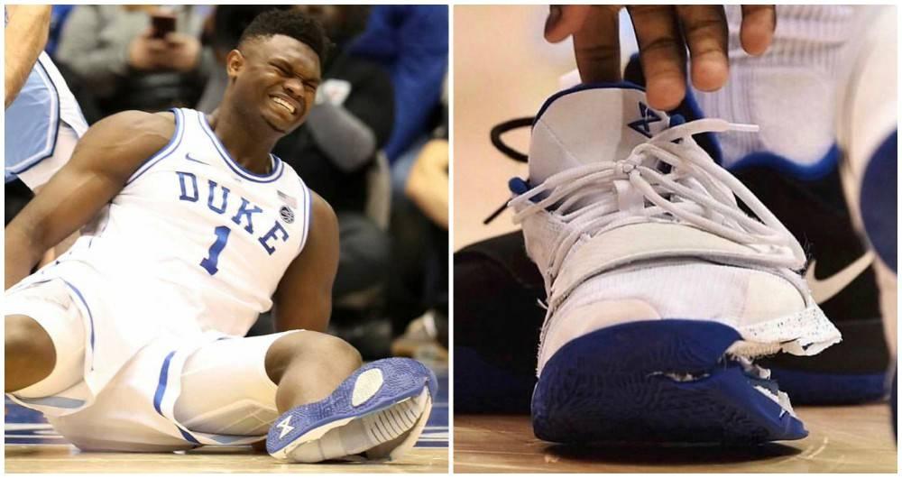 Mejorar la licenciatura Exponer  Acciones de Nike caen por falla del calzado de Zion Williamson, prometedora  estrella del básquet