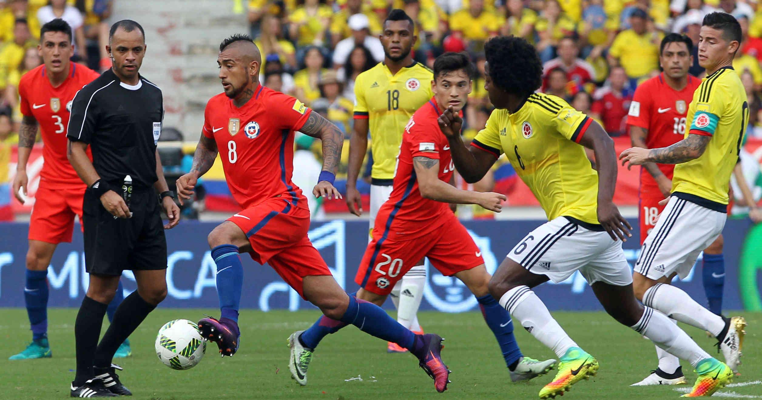 Final del partido    Colombia 0-0 Chile