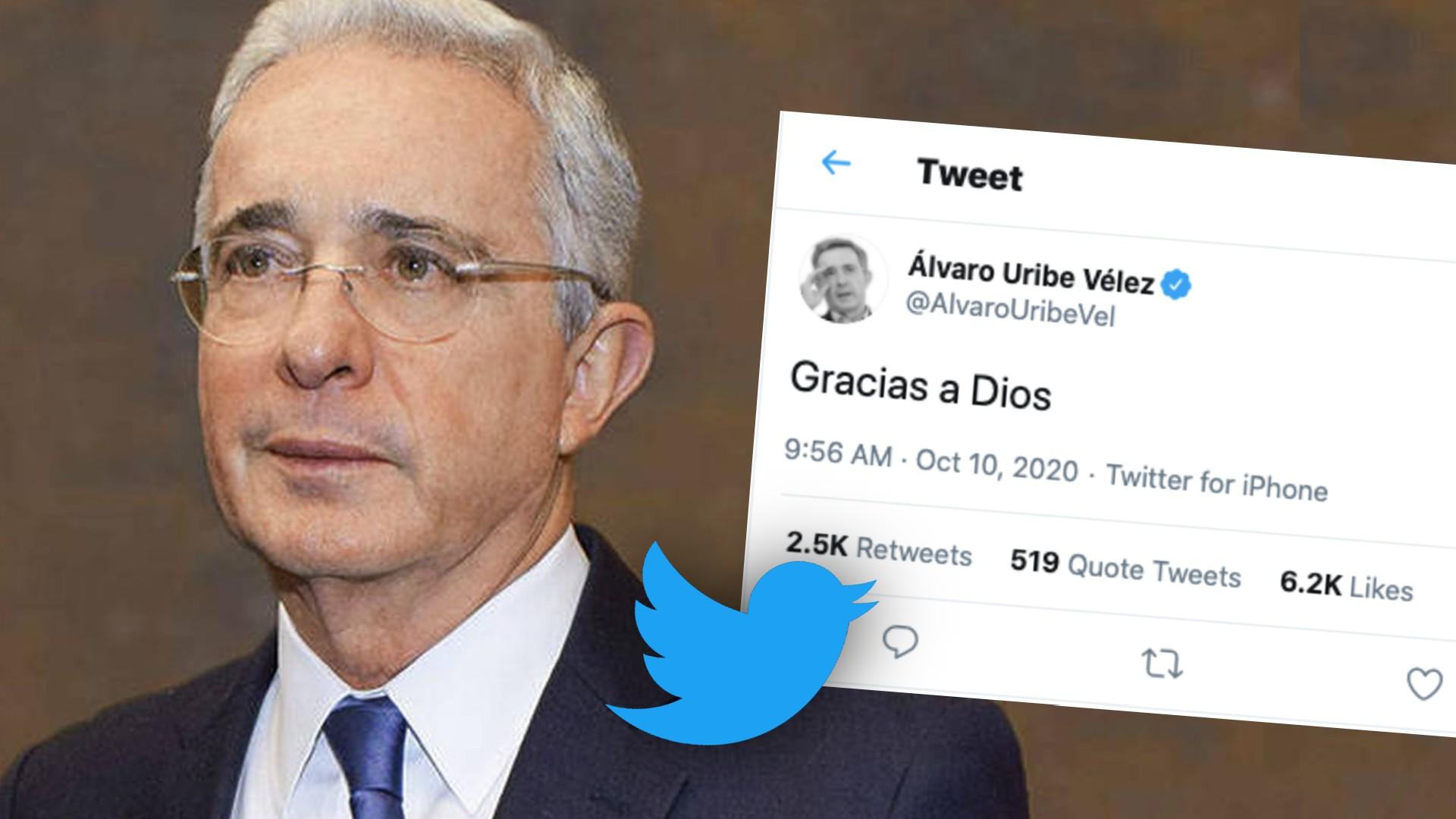 """Gracias a Dios"""": Uribe reacciona a decisión de libertad"""
