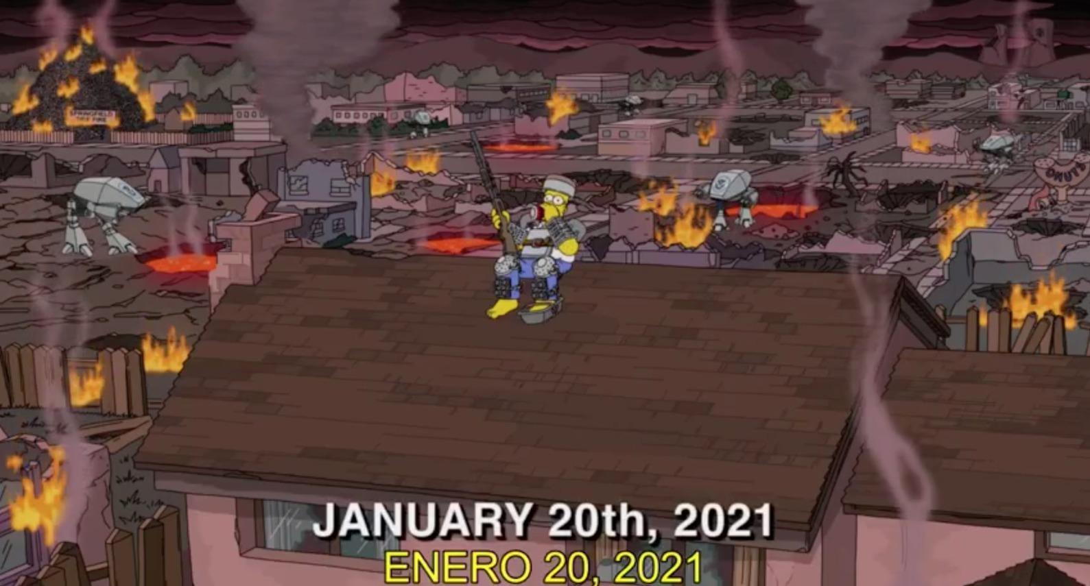 Otra predicción? Esto ocurrirá el 20 de enero según Los Simpson