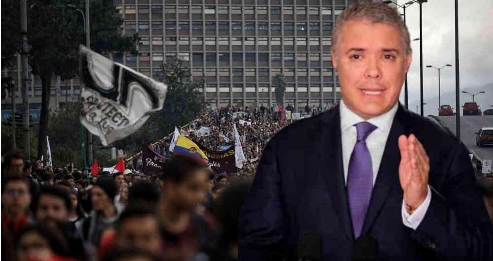 Duque dice que en las movilizaciones de 2019 algunos protestaron  desinformados