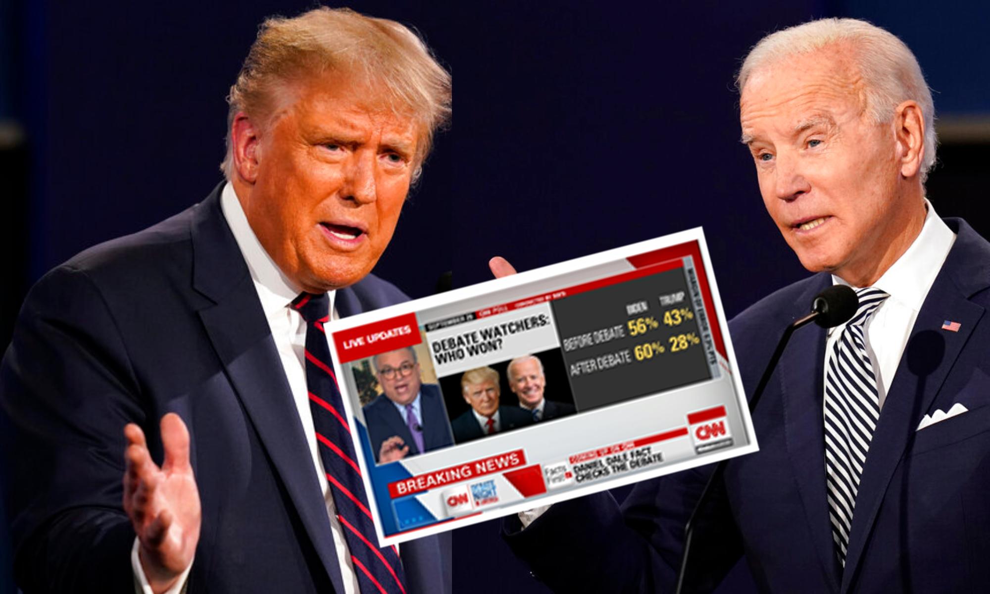 Quién ganó el primer debate presidencial entre Biden y Trump?, según CNN