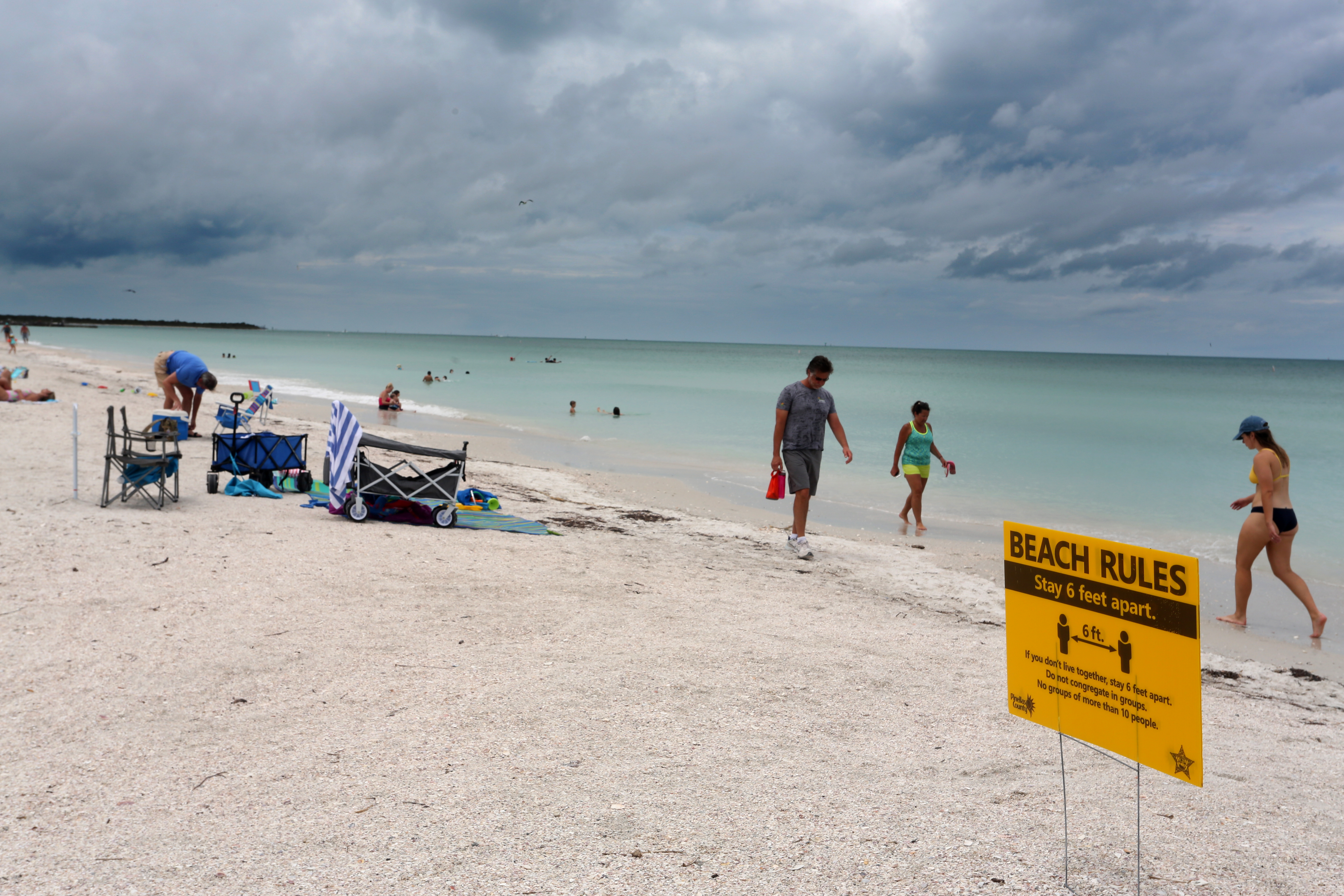 Pinellas beaches will be open for July 4 holiday, but officials expect self  policing