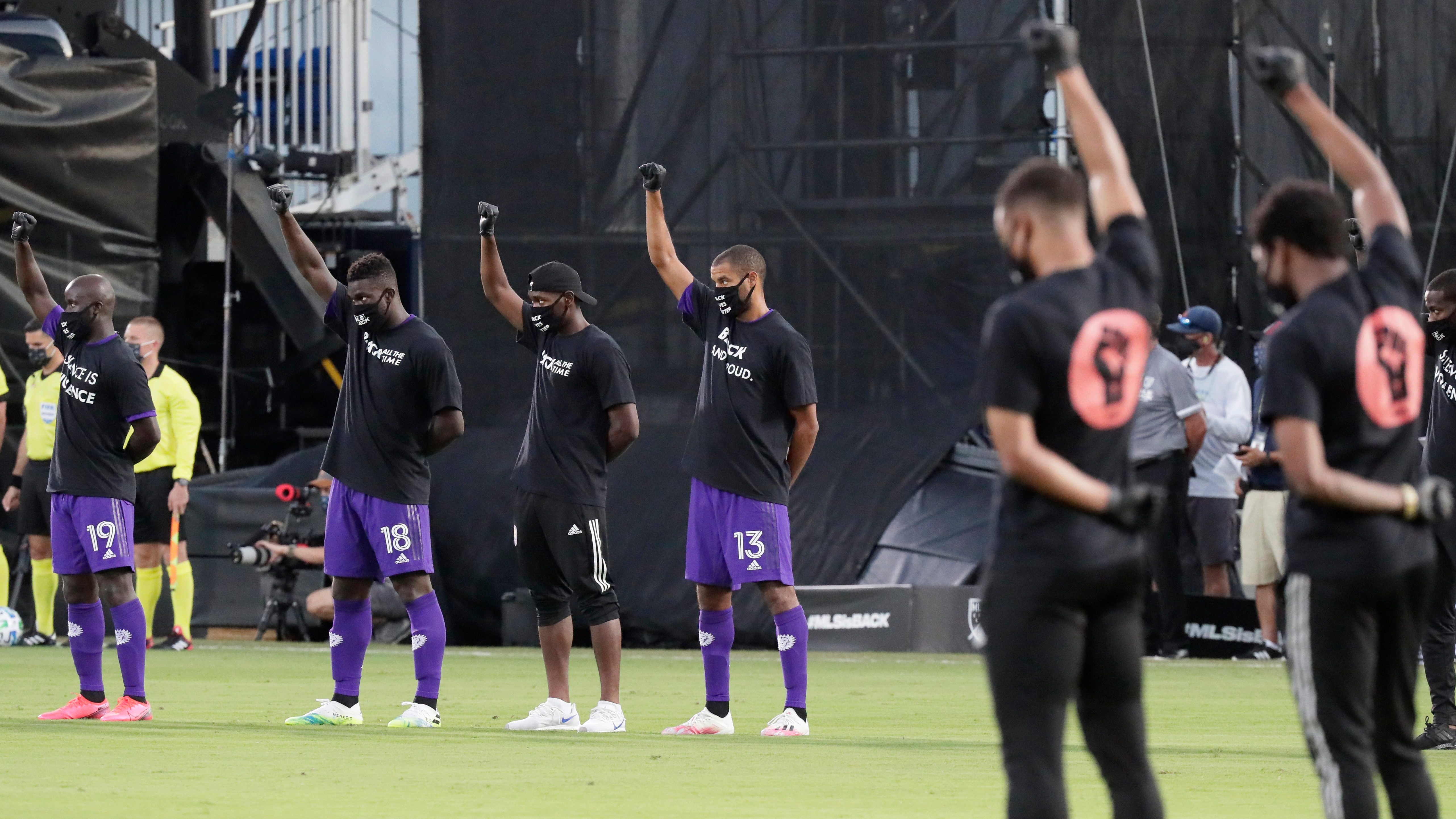 Major League Soccer Returns With Stirring Silent Protest Of Racial Injustice