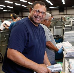 Paper carrier Robert Crockett on his delivery job.