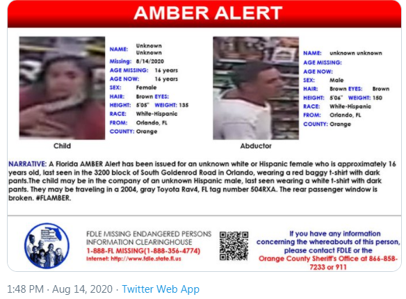 Suspect In Amber Alert Abduction From Orlando Gas Station Caught Girl Still Missing