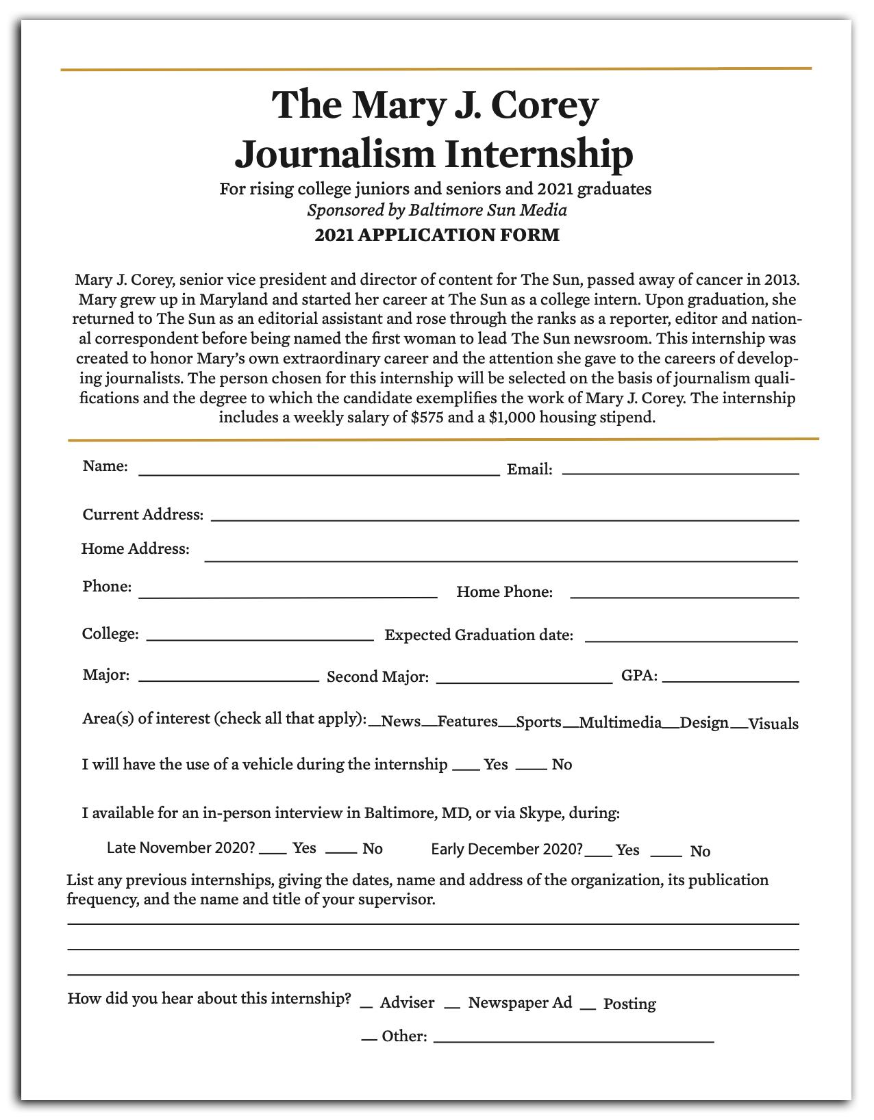 intership application thumbnail