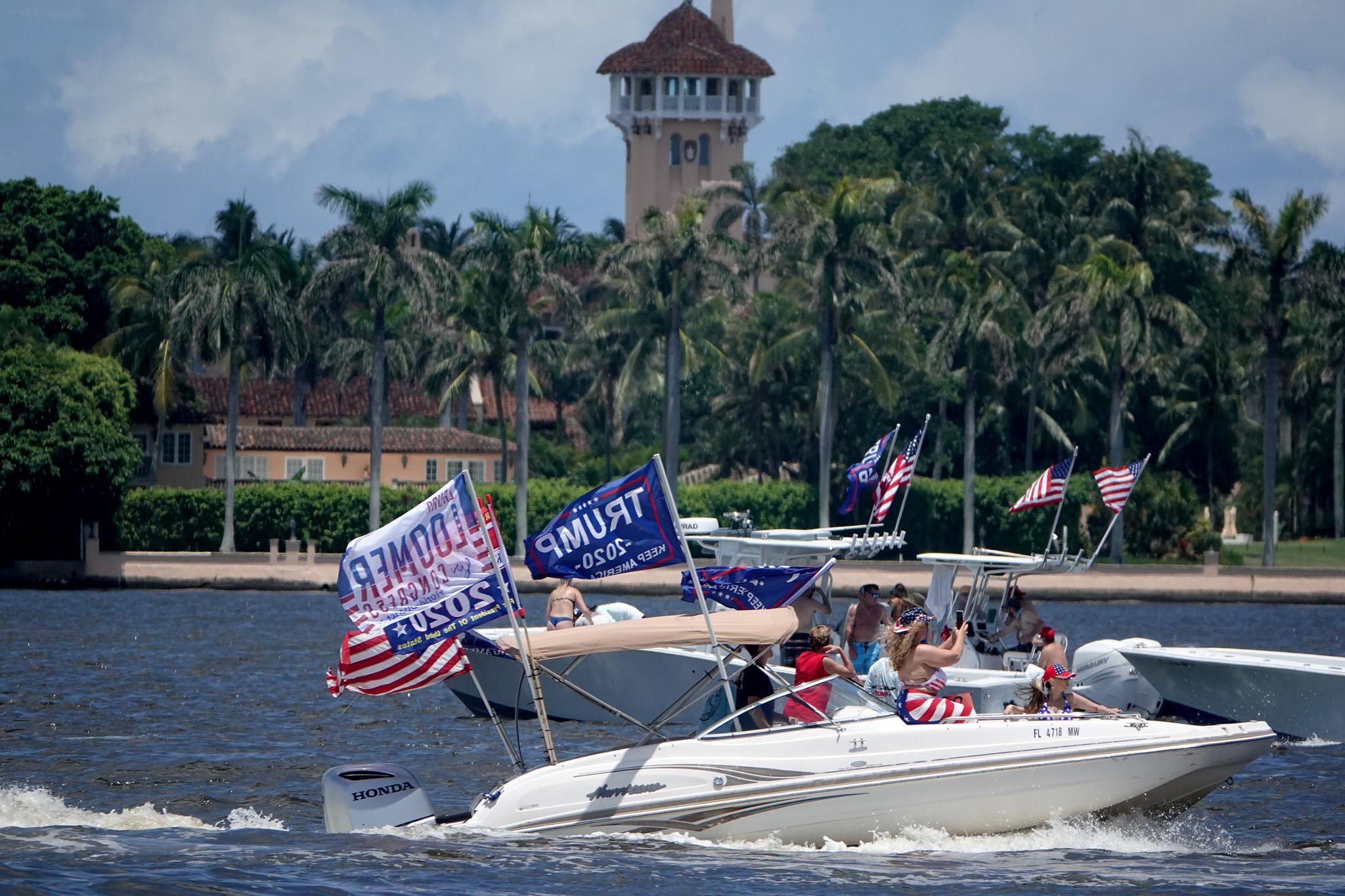 Donald Trump Joe Biden Supporters Rally On President S Birthday South Florida Sun Sentinel